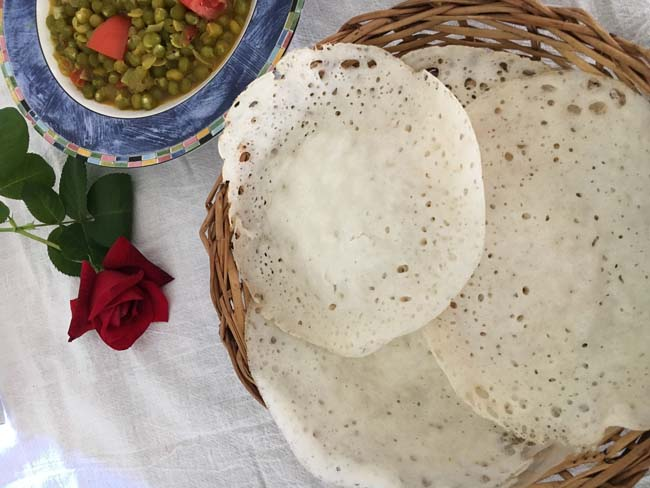 Easy Palappam With  Yeast
