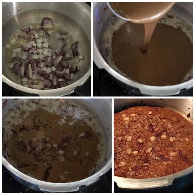 Making Kalathappam - Sweet Rice cake made in the pressure cooker