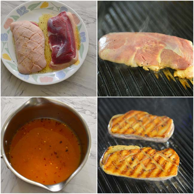 Making Duck With Spiced Orange Sauce