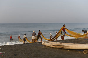 Fisherman on the beach - varkala