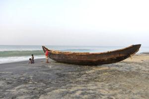 Varkala boat on the beach