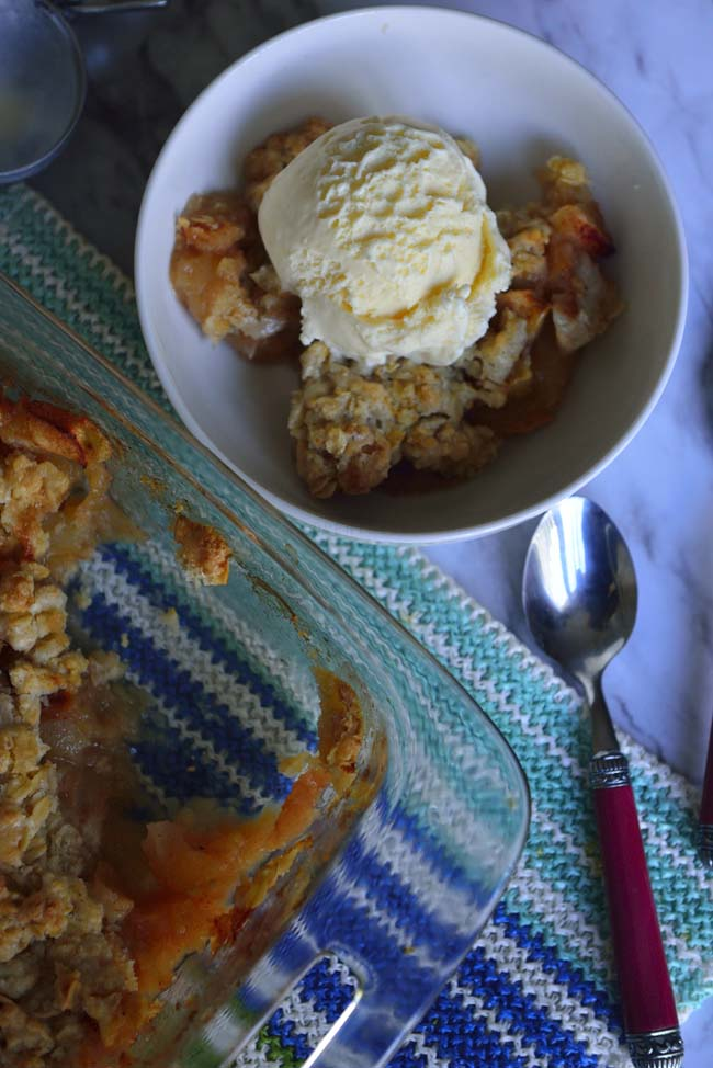 Apple Crisp or crumble - A rustic dessert that is easy to make and serve