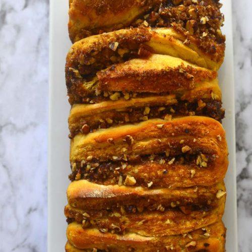 Apple Walnut Pull Apart Loaf