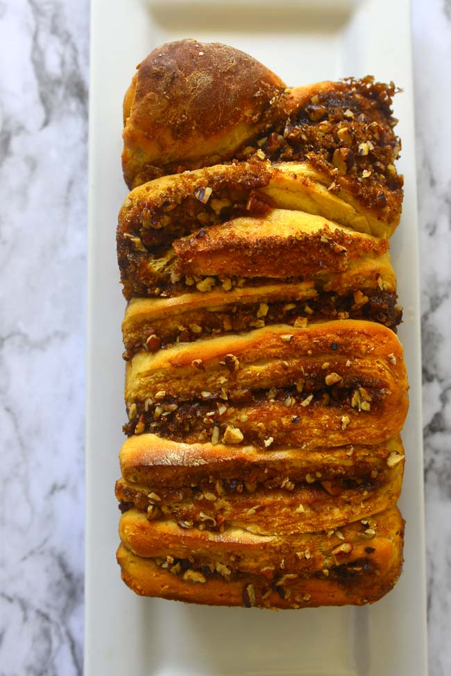 Apple Walnut Pull Apart Loaf