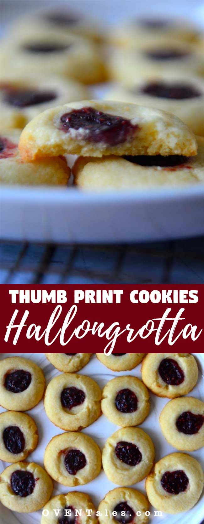 Thumb Print Cookies or the Swedish Hallongrotta
