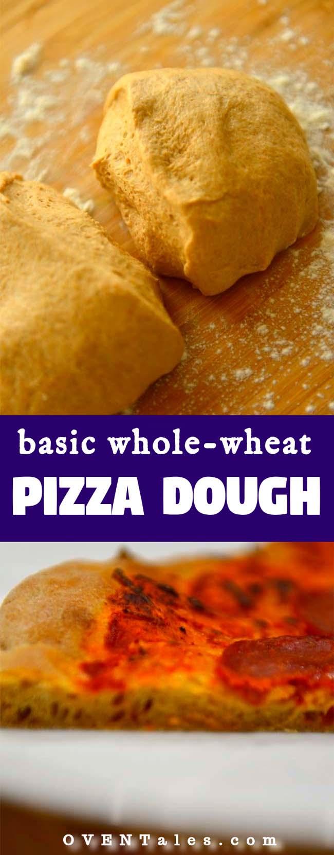 Easy to make basic whole wheat pizza dough piz