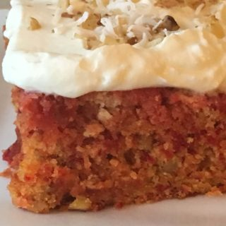 A delicious cake made with carrot and beets