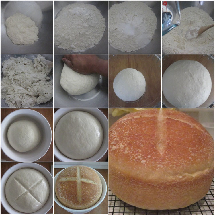 Making Basic Sourdough Bread