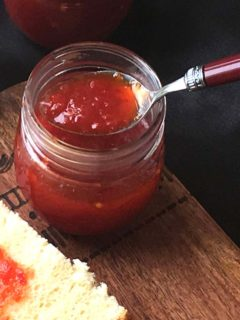 Sweet Spicy and Tangy Red Pepper Jelly