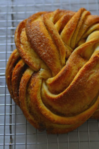 Estonian Kringle - A beautiful shaped loaf with cinnamon sugar