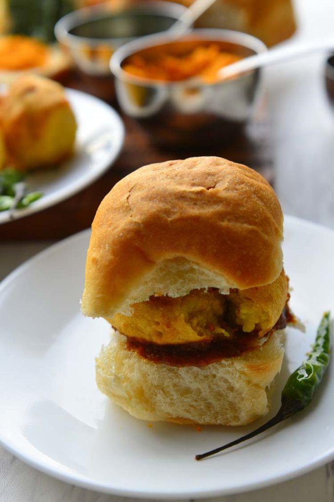 Vada Pav - Delicious spiced potato burger
