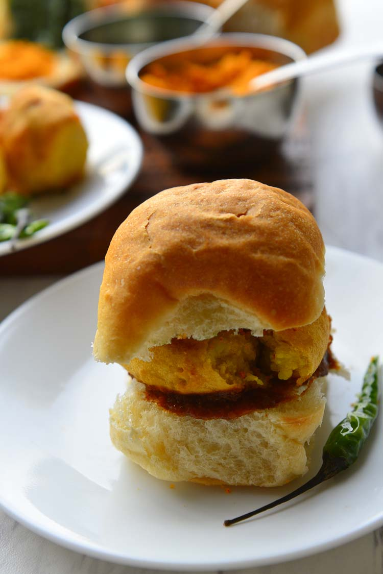 Vada Pav - Delicious spiced potato burger