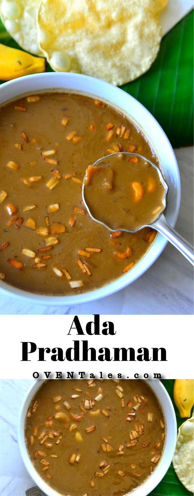 Ada Pradhaman - Dairy free and gluten free kheer from Kerala