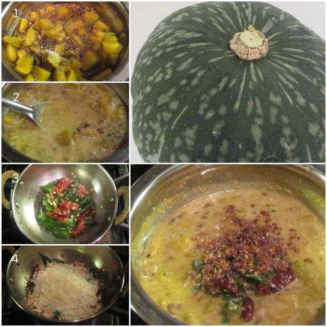 Steps to make Erisseri the curried pumpkin and beans