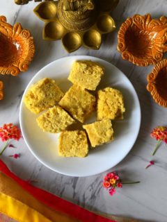 Seven Cups Burfi - Indian fudge made with chickpea flour
