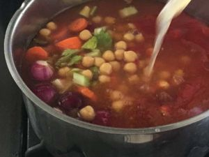 Chickpea Sausage Soup