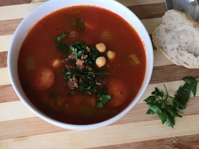 Chickpea Sausage Soup