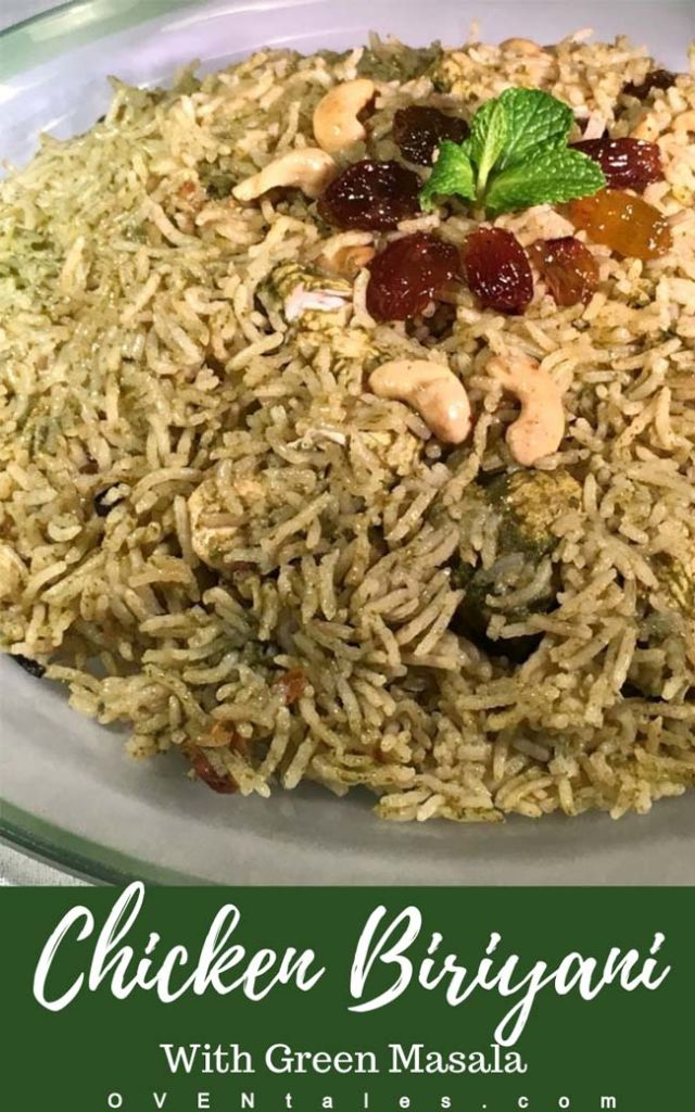 Chicken Biryani With Green Spices