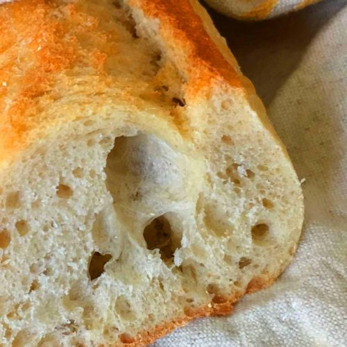 Fresh Baguette from the home oven - just like from an artisan bakery