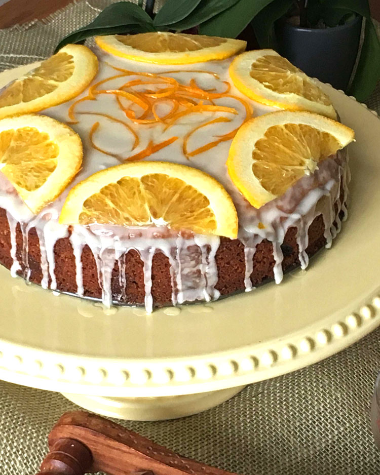 Goji Berry Orange Whole Wheat Cake
