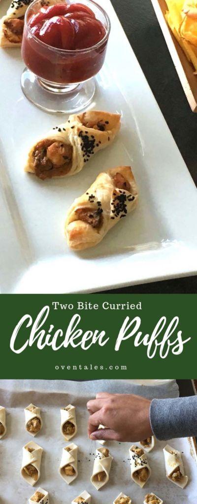 Two Bite Curried Chicken Puffs