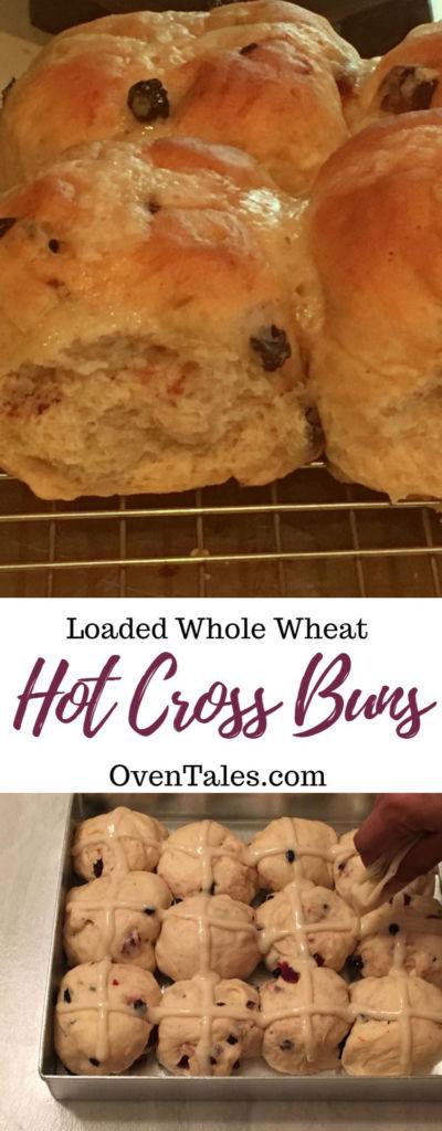 Loaded Whole Wheat Hot Cross Buns
