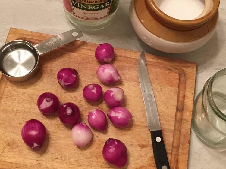 Vinegar Onions - sirke wala pyaz
