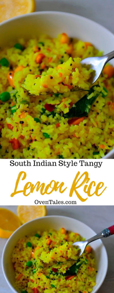 South Indian Style Lemon Rice