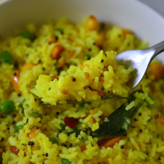 South Indian Style Tangy Lemon Rice
