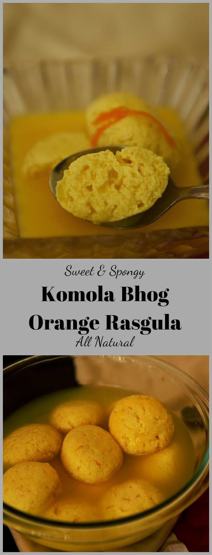 Komola Bhog - Orange Rasgulla