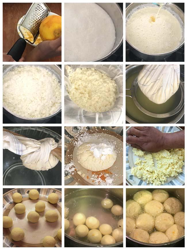 Steps needed to make komolo bjog - the orange flavored rasgulla