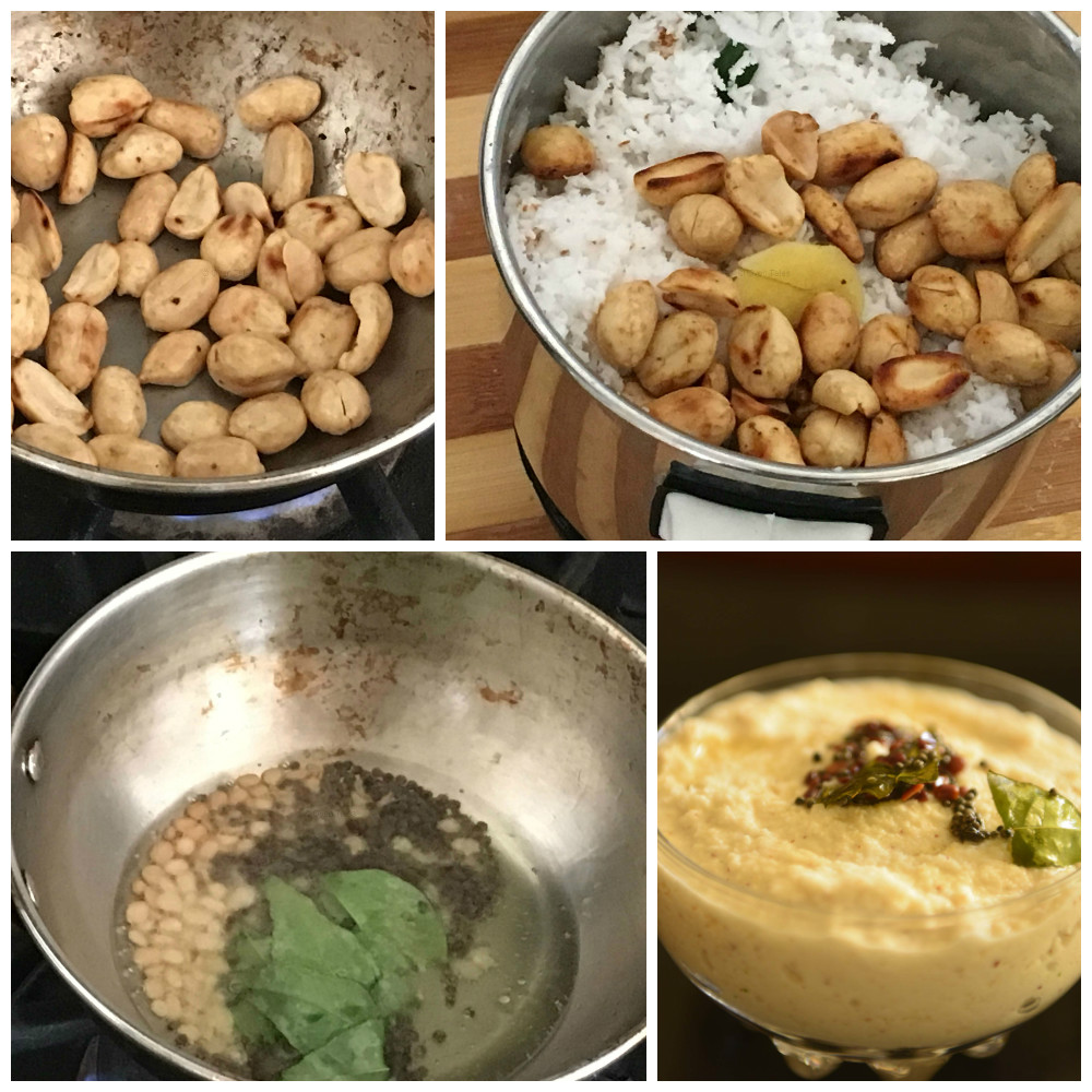 Peanut Coconut Chutney Steps