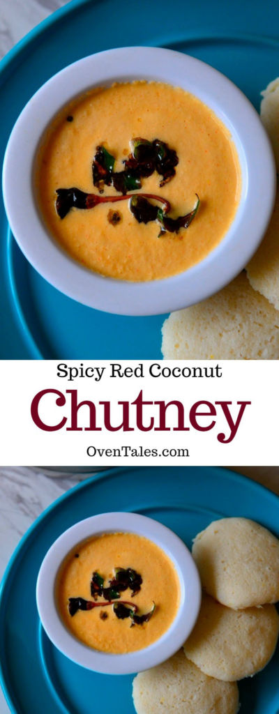 Red Coconut Chutney Kerala Style