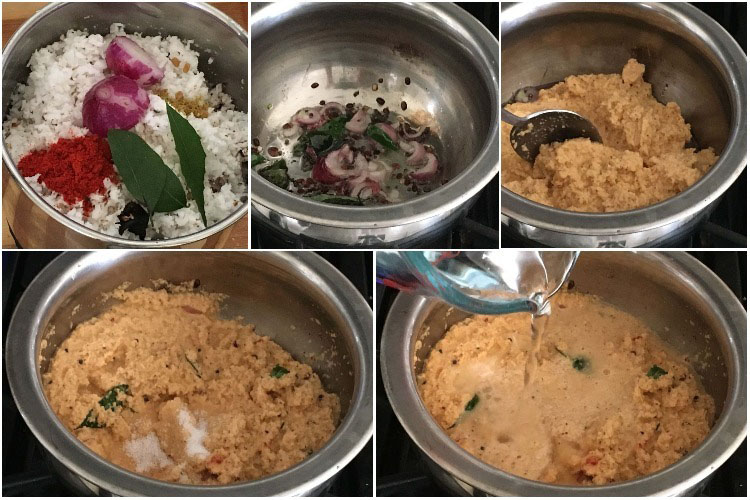 Making Spicy Red Coconut Chutney