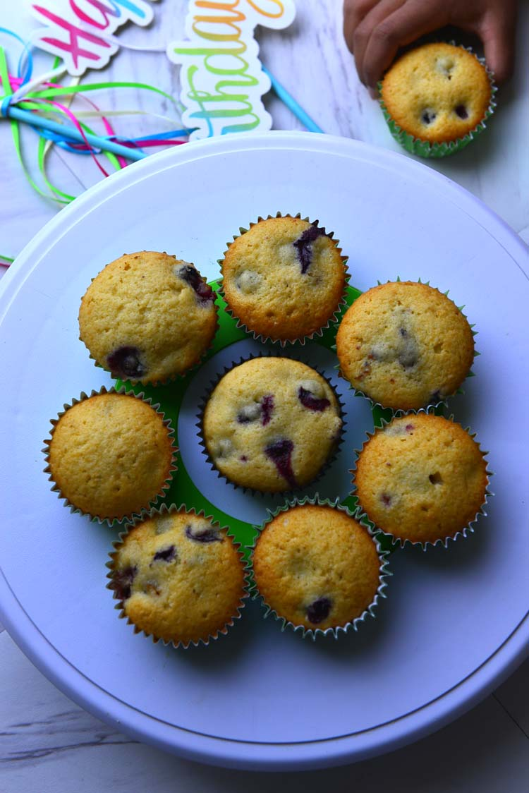 Home Made Blue berry Muffins from Scratch