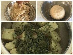 Aloo Paratha Dough And Filling