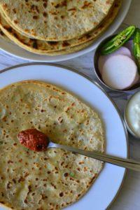 Aloo Paratha or Potato Stuffed Whole Wheat Flat Bread