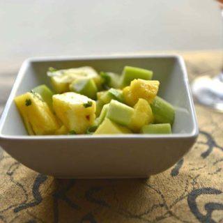 An easy vegan summer salad - Pineapple Cucumber Salad