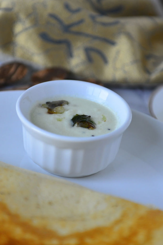 Thick and Creamy White Coconut Chutney