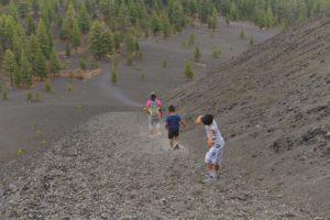 Cinder Cone Hike Back