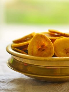 Fried Plantain Chips Popular in Kerala