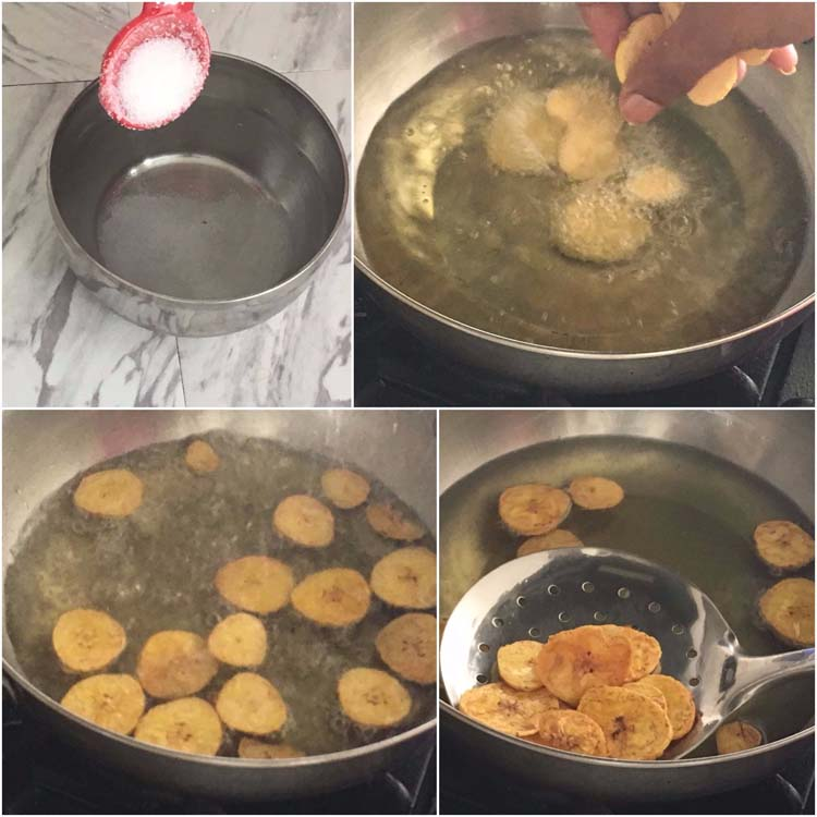 Frying the Plantain Chips Popular in Kerala