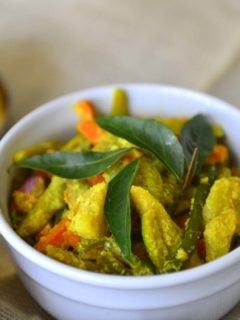 Kerala Avial - A delicately spiced mix vegetable side dish