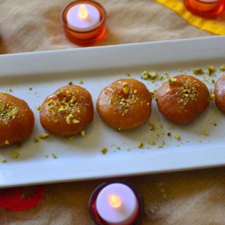 Badusha glazed doughnut like dessert popular during Indian festivals