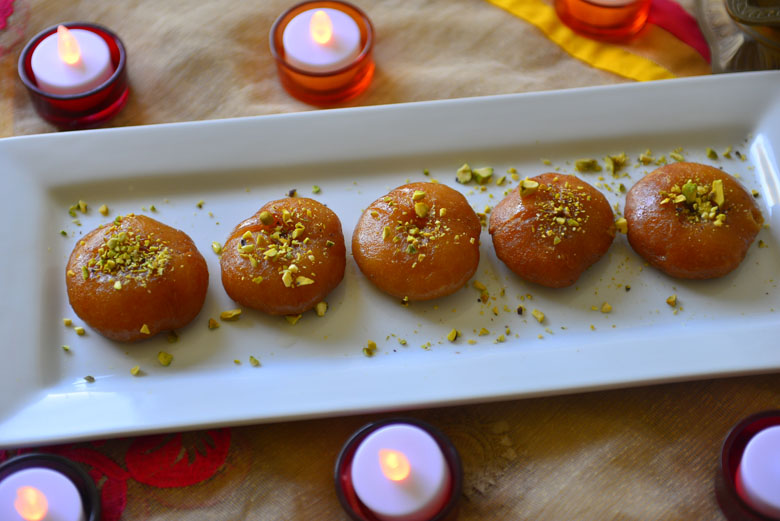 Badusha glazed doughnut like dessert popular during Indian festivals