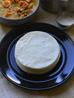 A Gluten Free Flat bread made With Rice Flour - Ari Pathiri