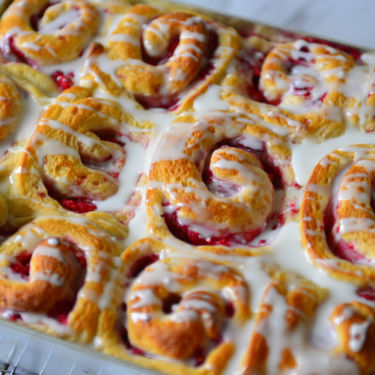 Raspberry Swirl Sweet Rolls