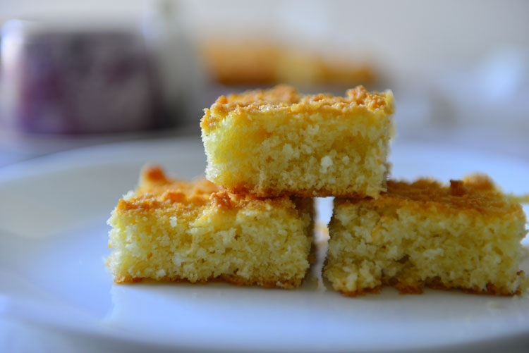 Baath Cake - semolina and coconut cake from Goa