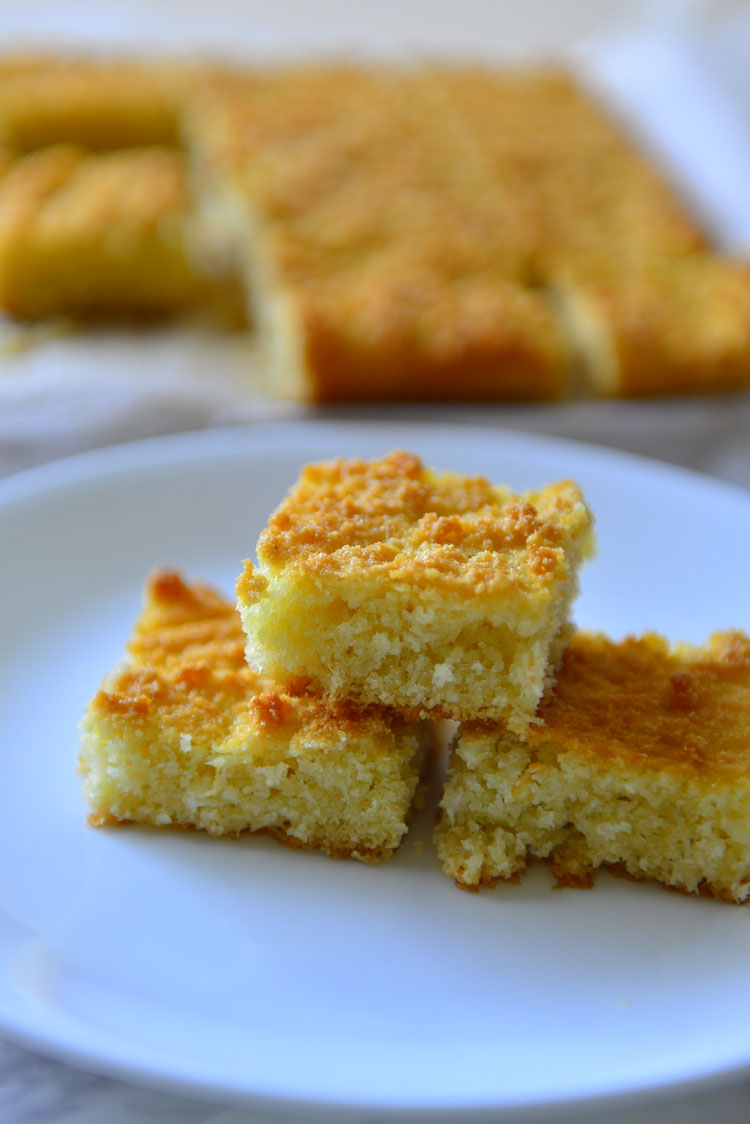 Baath Cake - coconut and semolina cake from Goa