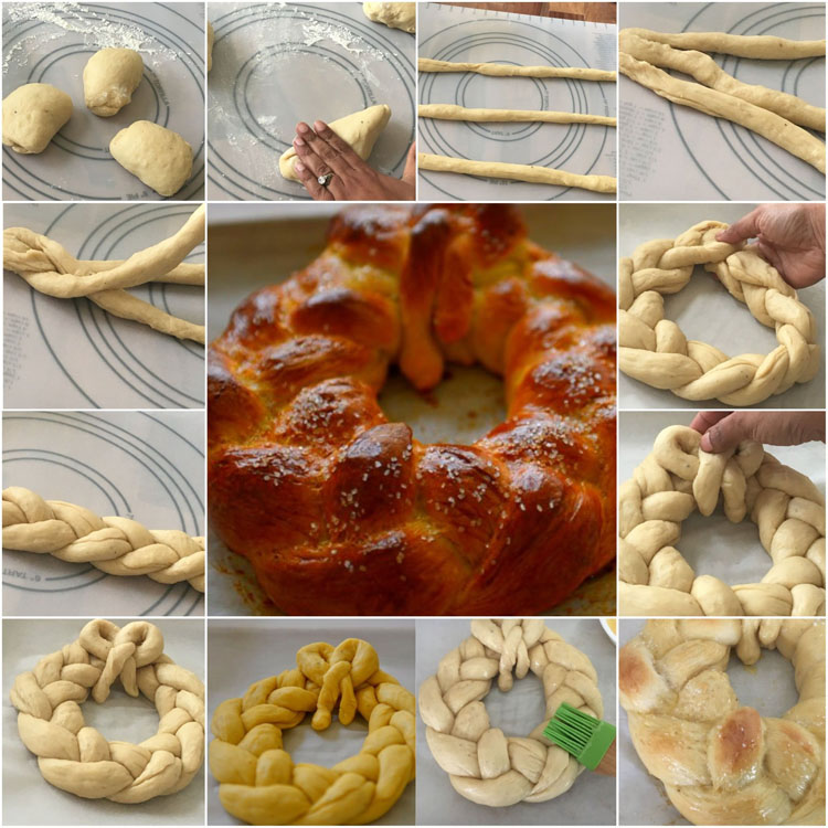 Making The Pulla Wreath
